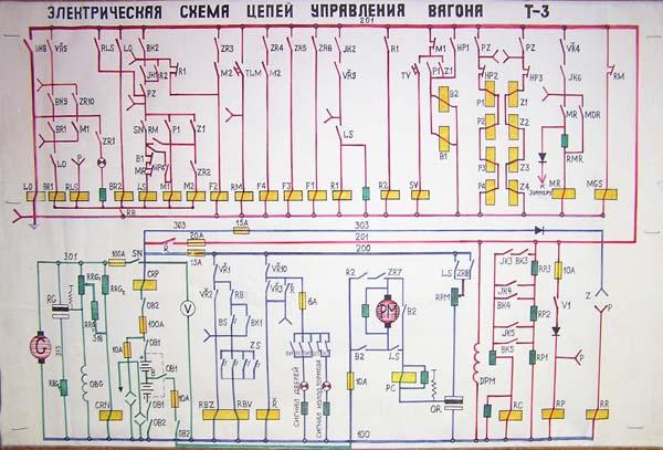 электрическая схема трамваев.